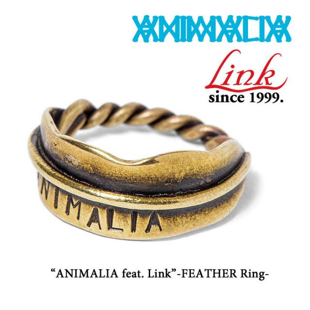 ANIMALIA(アニマリア) ANIMALIA feat.Link-FEATHER Ring 【2018SPRING先行予約】 【キャンセル不可】 【THE CHERRY COKE$】 【A