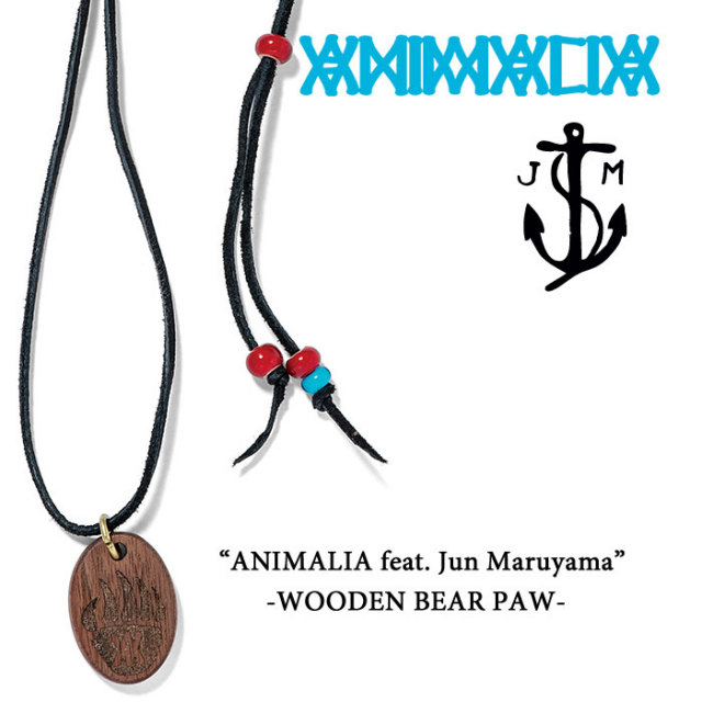 【SALE40%OFF】 ANIMALIA(アニマリア) ANIMALIA feat.Jun Murayama-WOODEN BEAR PAW 【ネックレス ペンダント アクセサリー】【セ