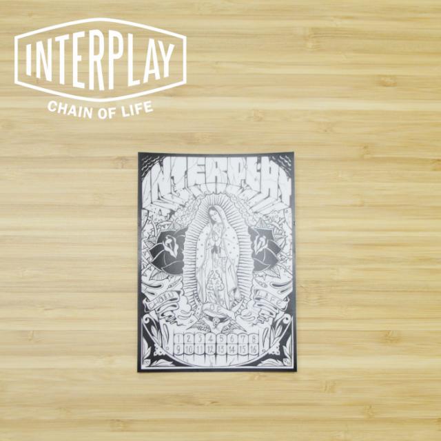 INTERPLAY(インタープレイ) PRAY FOR ALL STICKER(CLEAR) 【インタープレイオリジナルステッカー マリア】【RAT HOLE STUDIO】【WEI
