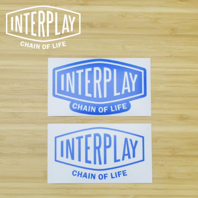 INTERPLAY(インタープレイ) LOGO STICKER 【インタープレイオリジナル ロゴステッカー】【ブルー ホワイト】