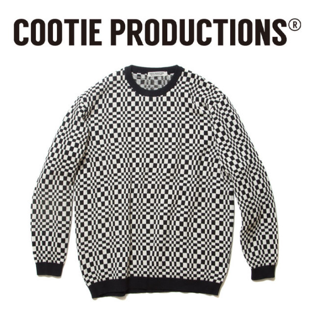 COOTIE(クーティー)Crazy Checkered Crewneck Sweater 【CTE-18S305】