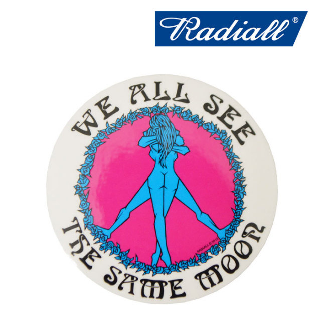"RADIALL(ラディアル) KUSTOM STICKERS ""B"" CIRCLE OF LOVE 【2018 SPRING&SUMMER新作】 【RADIALL ステッカー】 【RAD-18SS-ACC1"