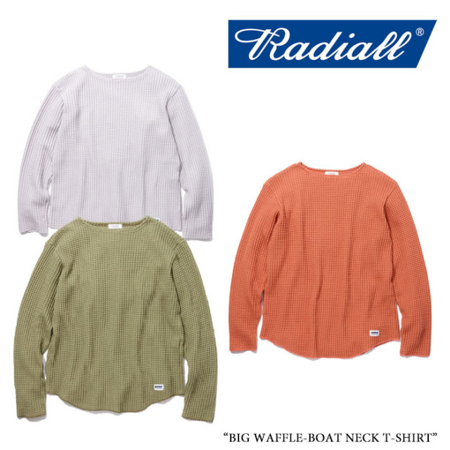 【SALE】 RADIALL(ラディアル) BIG WAFFLE-BOAT NECK T-SHIRT 【2018 SPRING&SUMMER新作】【RAD-18SS-CUT038】