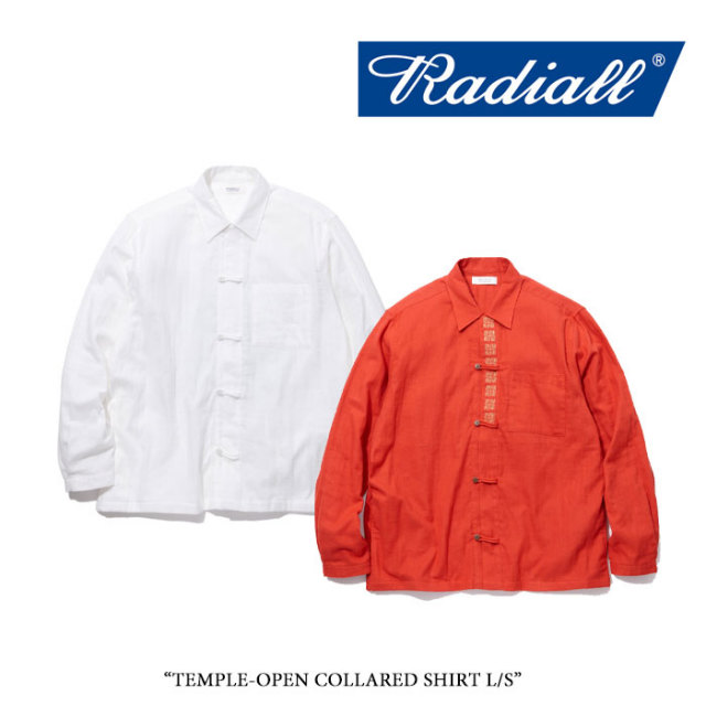 RADIALL(ラディアル) TEMPLE-OPEN COLLARED SHIRT L/S 【2018 SPRING&SUMMER新作】 【送料無料】【即発送可能】 【RADIALL シャ