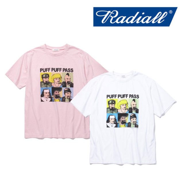 【SALE】 RADIALL(ラディアル) PASS - CREW NECK T-SHIRT 【2018 SPRING&SUMMER新作】 【RADIALL Tシャツ】 【RAD-18SS-TE026】