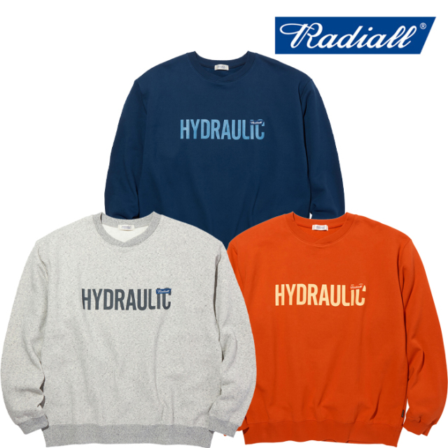 RADIALL(ラディアル) HYDRAULIC - CREW NECK SWEATSHIRT L/S 【クルーネックスウェット】【2020 AUTUMN&WINTER COLLECTION】【RAD-