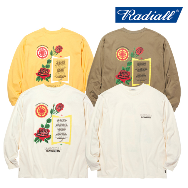 RADIALL(ラディアル) SLOW BURN - CREW NECK T-SHIRT L/S 【Tシャツ 長袖】【2020 AUTUMN&WINTER COLLECTION】【RAD-20AW-CUT017】