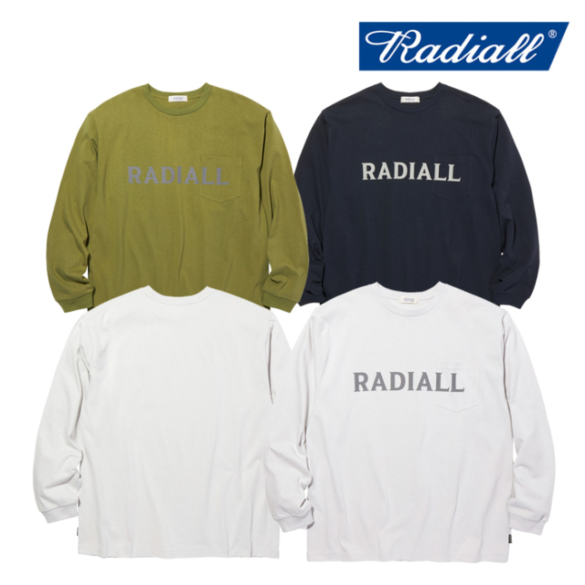 RADIALL(ラディアル) LOGOTYPE - CREW NECK POCKET T-SHIRT L/S 【Tシャツ 長袖】【2020 AUTUMN&WINTER COLLECTION】【RAD-20AW-CU