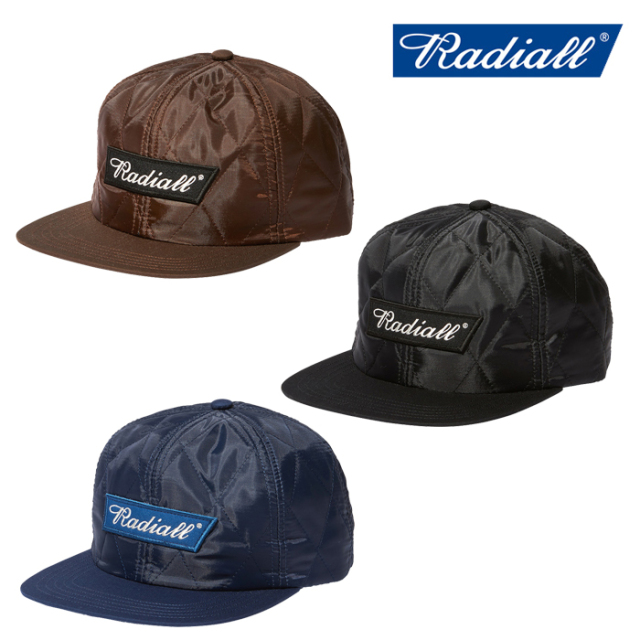 RADIALL(ラディアル) FLAGS - QUILTED BASEBALL CAP 【ベースボールキャップ】【2020 AUTUMN&WINTER COLLECTION】【RAD-20AW-HAT01