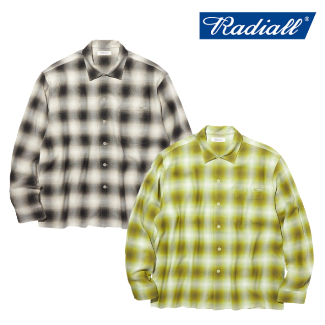 RADIALL(ラディアル) FAME - OPEN COLLARED SHIRT L/S 【オープンシャツ 長袖】【2020 AUTUMN&WINTER COLLECTION】【RAD-20AW-SH00