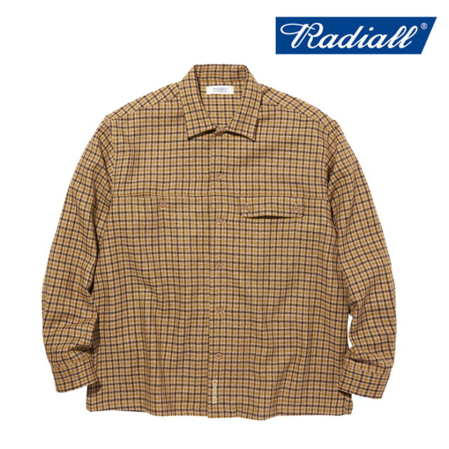 RADIALL(ラディアル) IMPERIAL - OPEN COLLARED SHIRT L/S 【オープンシャツ】【2020 AUTUMN&WINTER COLLECTION】【RAD-20AW-SH003