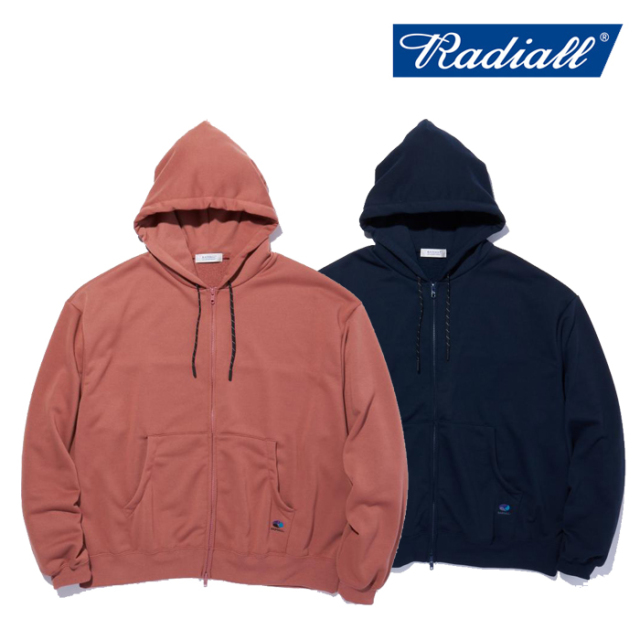 RADIALL(ラディアル) THREE WAY - ZIP UP HOODED SWEATSHIRT L/S 【ジップパーカー】【2021 SPRING&SUMMER COLLECTION】【RAD-21SS