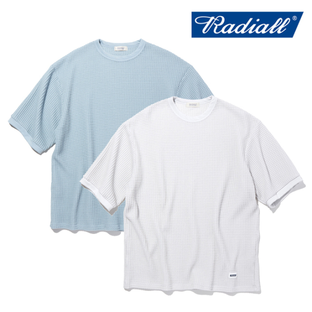 RADIALL(ラディアル) BIG WAFFLE - CREW NECK T-SHIRT S/S 【Tシャツ 半袖】【2021 SPRING&SUMMER COLLECTION】【RAD-21SS-CUT005