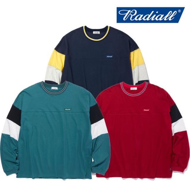 RADIALL(ラディアル) CUTLASS - CREW NECK T-SHIRT L/S 【ロングスリーブTシャツ】【2021 SPRING&SUMMER COLLECTION】【RAD-21SS-C