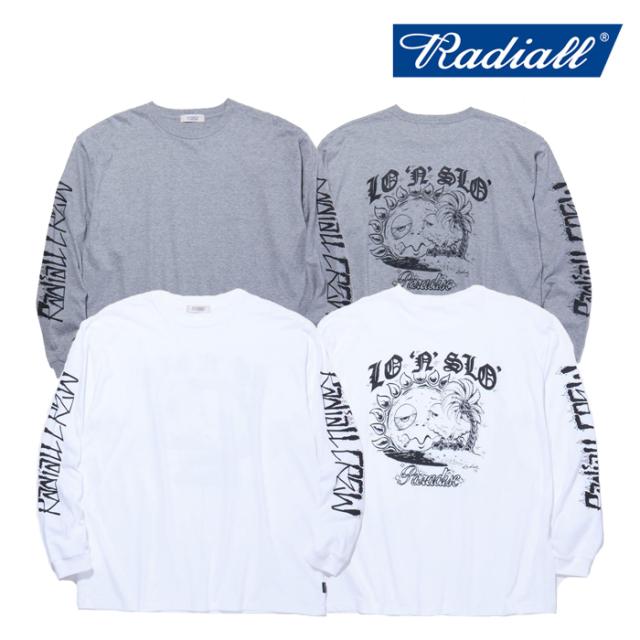 RADIALL(ラディアル) PARADISE - CREW NECK T-SHIRT L/S 【ロングスリーブTシャツ】【2021 SPRING&SUMMER COLLECTION】【RAD-21SS-