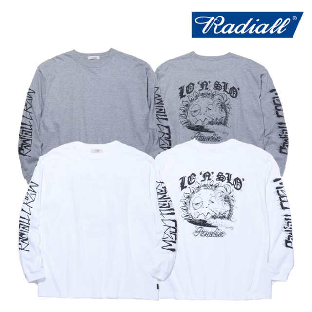 RADIALL(ラディアル) PARADISE - CREW NECK T-SHIRT L/S 【ロングスリーブTシャツ】【2021 SPRING&SUMMER COLLECTION】【RAD-21SS-