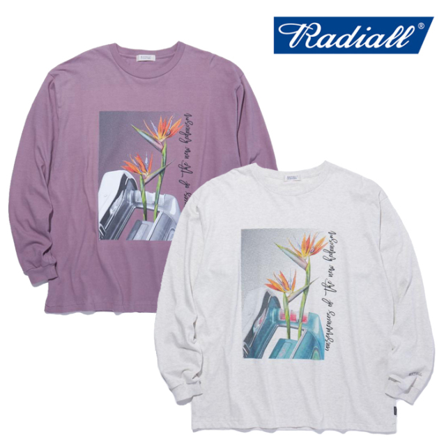 RADIALL(ラディアル) HEDONISM - CREW NECK T-SHIRT L/S 【ロングスリーブTシャツ】【2021 SPRING&SUMMER COLLECTION】【RAD-21SS-