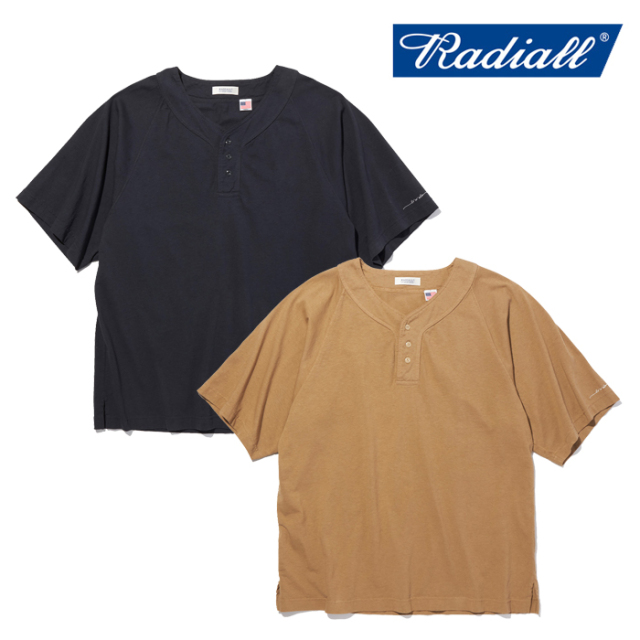 RADIALL(ラディアル) JACQUE - HENLEY NECK T-SHIRT S/S 【ヘンリーTシャツ 半袖】【2021 SPRING&SUMMER COLLECTION】【RAD-21SS-C