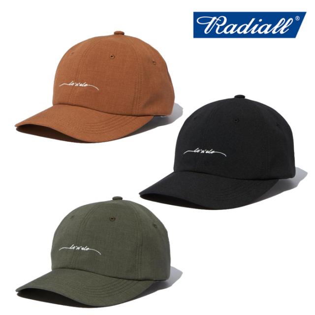 RADIALL(ラディアル) LO-N-SLO - BASEBALL LOW CAP 【B.B.キャップ 帽子】【2021 SPRING&SUMMER COLLECTION】【RAD-21SS-HAT006】