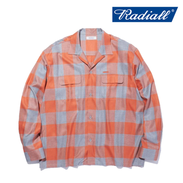 RADIALL(ラディアル) LONG BEACH - OPEN COLLARED SHIRT L/S 【オープンシャツ 長袖】【2021 SPRING&SUMMER COLLECTION】【RAD-21S
