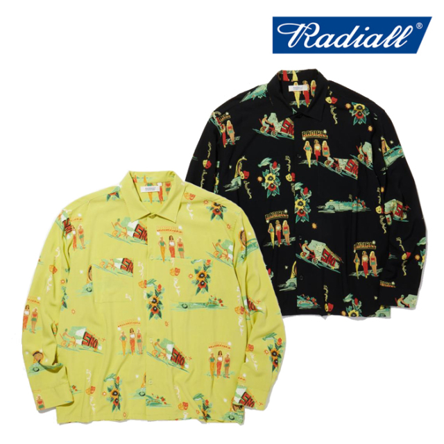 RADIALL(ラディアル) LOWLOW - OPEN COLLARED SHIRT L/S 【オープンシャツ 長袖】【2021 SPRING&SUMMER COLLECTION】【RAD-21SS-SH