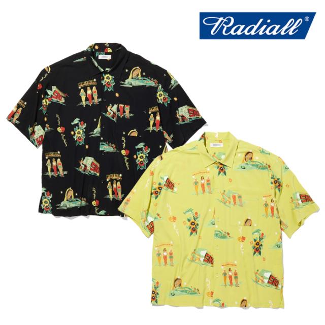 RADIALL(ラディアル) LOWLOW - OPEN COLLARED SHIRT S/S 【オープンシャツ 半袖】【2021 SPRING&SUMMER COLLECTION】【RAD-21SS-SH