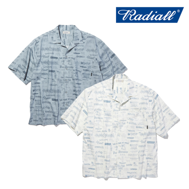 RADIALL(ラディアル) WALLTAG - OPEN COLLARED SHIRT S/S 【オープンシャツ 半袖】【2021 SPRING&SUMMER COLLECTION】【RAD-21SS-S