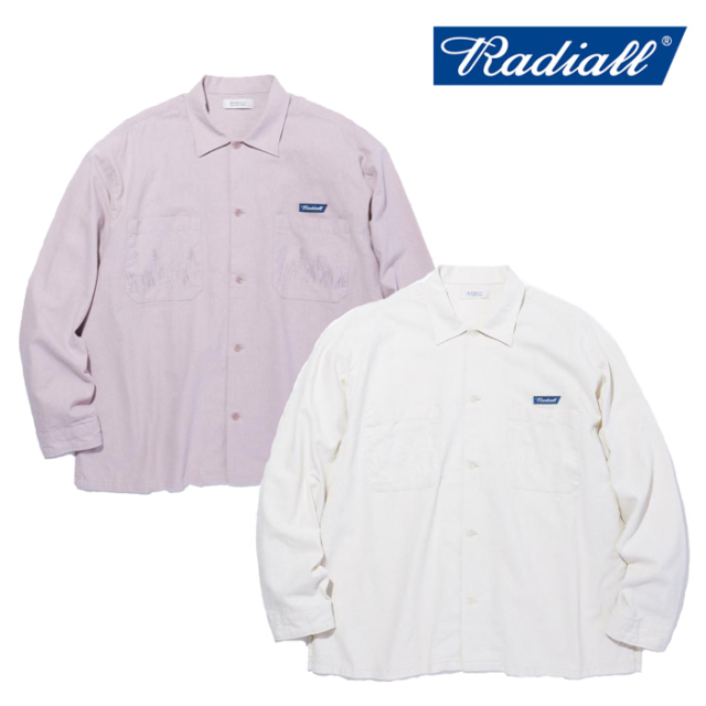 RADIALL(ラディアル) SLOW BURN - OPEN COLLARED SHIRT L/S 【オープンカラーシャツ】【2021 SPRING&SUMMER COLLECTION】【RAD-21S