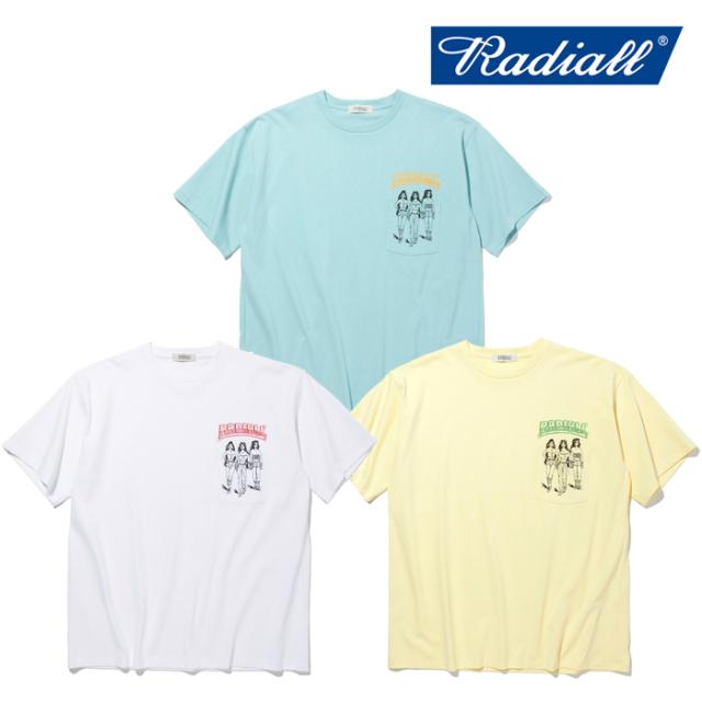 RADIALL(ラディアル) BOULEVARD - CREW NECK POCKET T-SHIRT S/S 【ポケットTシャツ 半袖】【2021 SPRING&SUMMER COLLECTION】【RA