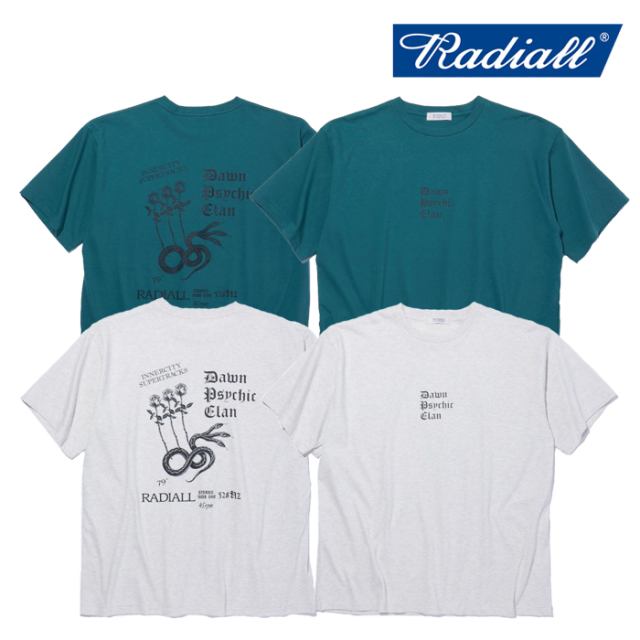 RADIALL(ラディアル) PSYCHIC - CREW NECK T-SHIRT S/S 【Tシャツ 半袖】【2021 SPRING&SUMMER COLLECTION】【RAD-21SS-TEE008】