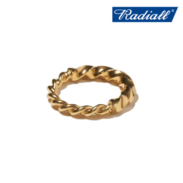 RADIALL(ラディアル) TWIST - PINKY RING(18K) 【ピンキーリング ゴールド】【2021 SPRING&SUMMER COLLECTION】【RAD-JWL028-02】