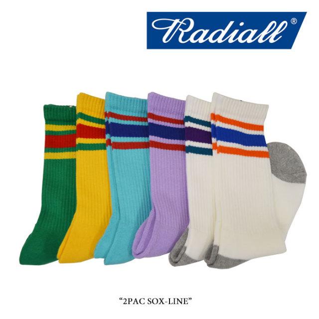 RADIALL(ラディアル) 2PAC SOX-LINE 【2018 SPRING&SUMMER新作】 【即発送可能】 【RADIALL ソックス】 【RAD-PAC025】
