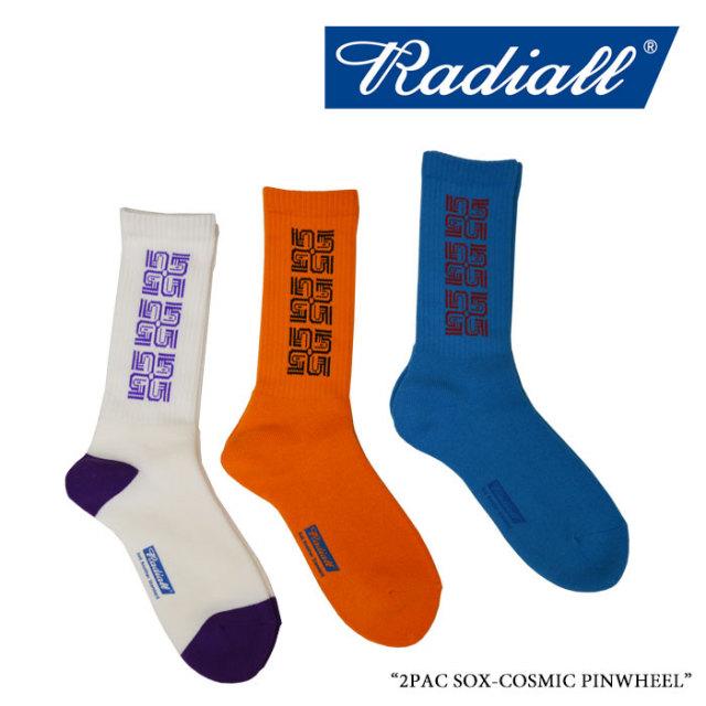 RADIALL(ラディアル) 2PAC SOX-COSMIC PINWHEEL 【2018 SPRING&SUMMER新作】 【即発送可能】 【RADIALL ソックス】 【RAD-PAC02
