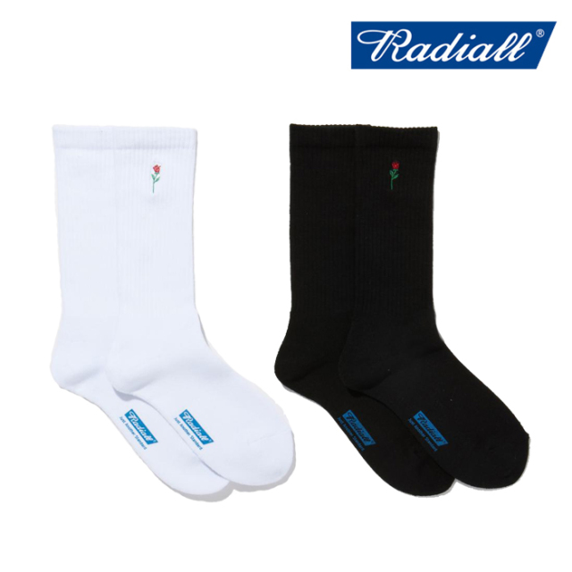RADIALL(ラディアル) ROSE - 2PAC SOX LONG 【スケートソックス 靴下】【2021 SPRING&SUMMER COLLECTION】【RAD-PAC038】