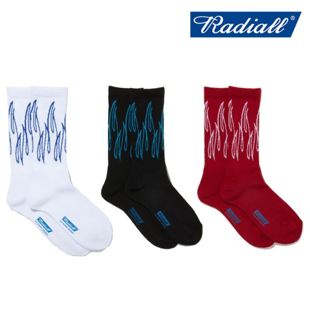 RADIALL(ラディアル) SLOW BURN - 2PAC SOX LONG 【スケートソックス 靴下】【2021 SPRING&SUMMER COLLECTION】【RAD-PAC039】