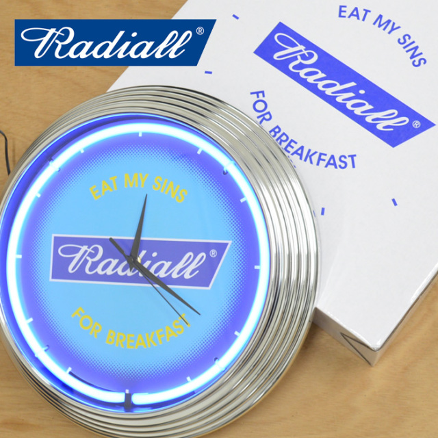 【再入荷!!】 RADIALL(ラディアル) FLAGS - NEON CLOCK - 【2019 SPRING&SUMMER SPOT COLLECTION】 【RAD-18SS-SP-ACC002】【ネ