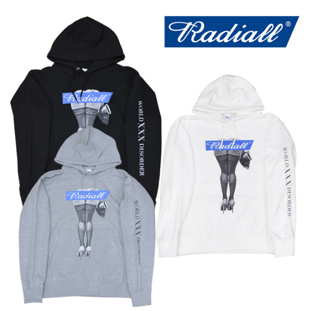 RADIALL(ラディアル) MANS RUIN -HOODIE SWEATSHIRT 【2018 AUTUMN & WINTER SPOT COLLECTION】 【RAD-18AW-SPOT-CUT002】