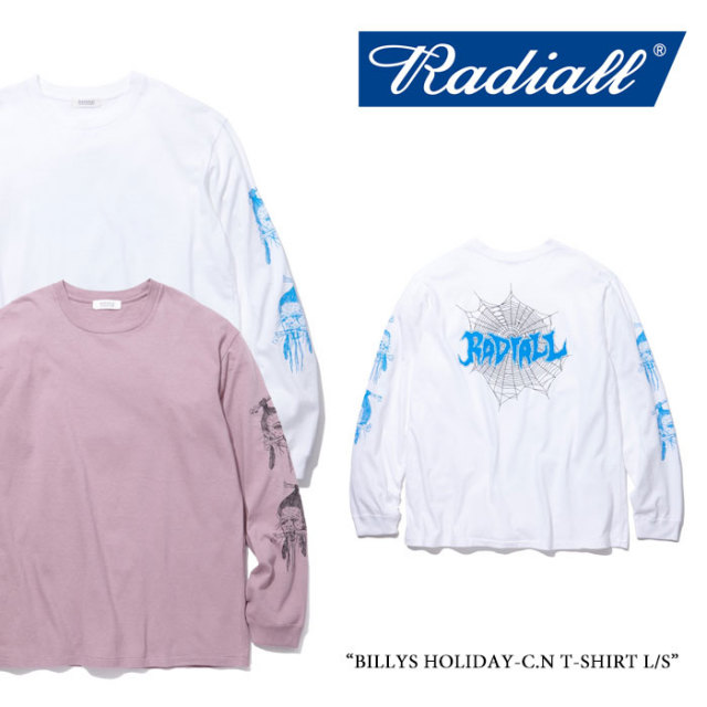 【SALE】 RADIALL(ラディアル) BILLYS HOLIDAY-C.N T-SHIRT L/S 【2018 SPRING&SUMMER新作】【RAD-18SS-CUT032】