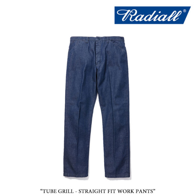 【SALE】 RADIALL(ラディアル) TUBE GRILL - STRAIGHT FIT WORK PANTS 【2018 SPRING&SUMMER新作】 【即発送可能】【RAD-18SS-PT