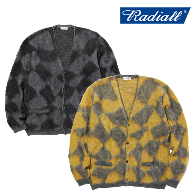 RADIALL(ラディアル) MOONGLOW - CARDIGAN SWEATER L/S 【カーディガン セーター モヘア】【2020 AUTUMN&WINTER COLLECTION】【RAD