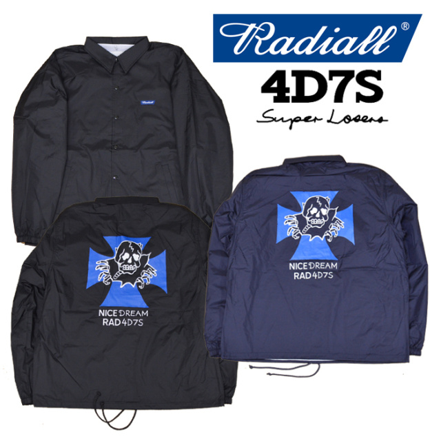 【SALE30%OFF】 RADIALL(ラディアル) 4D7S-COACH JACKET 【2018 AUTUMN & WINTER SPOT COLLECTION】 【RAD-18AW-SPOT-JW001】