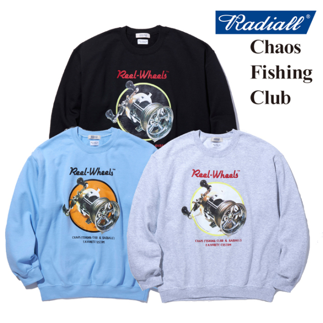 RADIALL(ラディアル) GAMBLING HOURS - CREW NECK SWEATSHIRT L/S 【スウェット】【CHAOS FISHING CLUB コラボレーション】【RAD-2