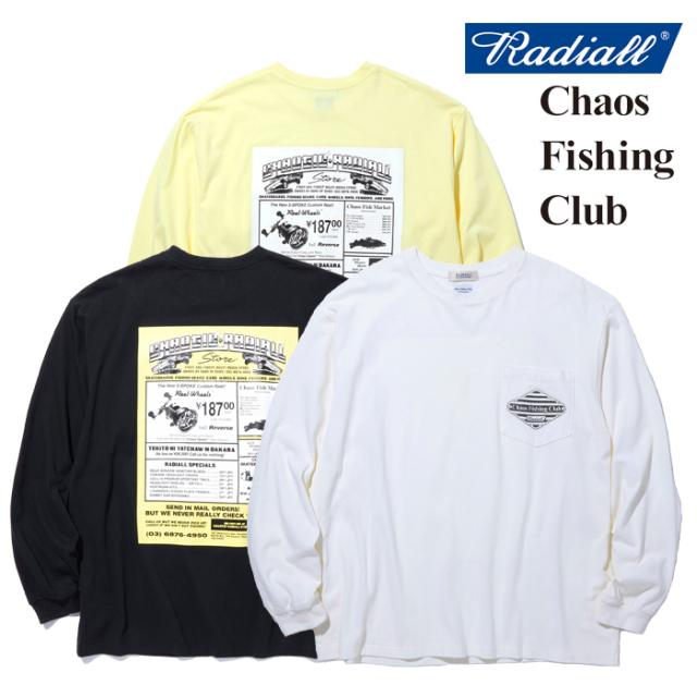 RADIALL(ラディアル) GAMBLING HOURS - CREW NECK T-SHIRT L/S 【ロングスリーブTシャツ】【CHAOS FISHING CLUB コラボレーション