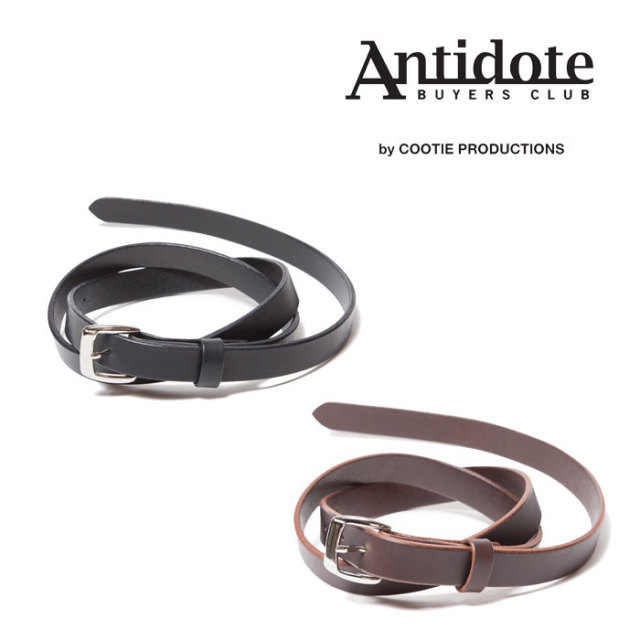 ANTIDOTE BUYERS CLUB(アンチドートバイヤーズクラブ) Narrow Harness Leather Belt 【RX-01-105】
