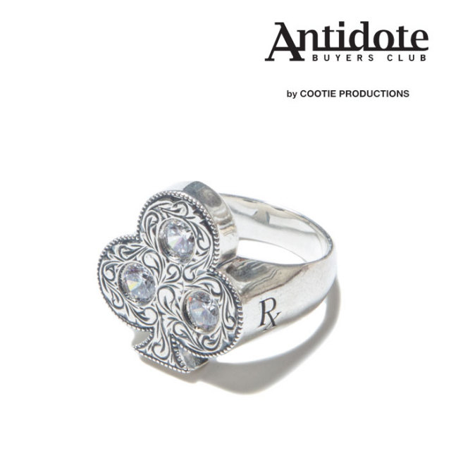 ANTIDOTE BUYERS CLUB(アンチドートバイヤーズクラブ)Engraved Club Ring (With Stone) 【RX-708】