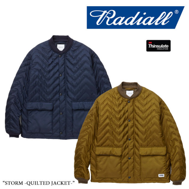 RADIALL(ラディアル) STORM -QUILTED JACKET- 【2017AUTUMN/WINTER新作】 【送料無料】【即発送可能】 【RADIALL アウター】 【
