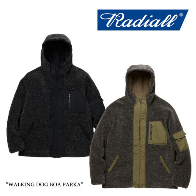 【SALE30%OFF】 RADIALL(ラディアル) WALKING DOG BOA PARKA 【2017AUTUMN/WINTER新作】 【送料無料】【即発送可能】 【RADIALL