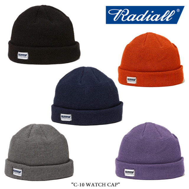 RADIALL(ラディアル) C-10 WATCH CAP 【2017A/W SPOT COLLECTION】 【即発送可能】 【RADIALL ビーニー】 【RAD-17AWS-HAT001】