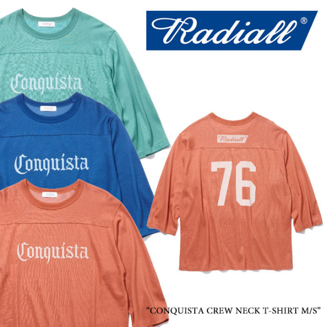 【SALE】 RADIALL(ラディアル) CONQUISTA CREW NECK T-SHIRT M/S 【2018 SPRING&SUMMER新作】【RAD-18SS-CUT010】