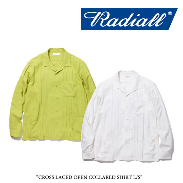【SALE】 RADIALL(ラディアル) CROSS LACED OPEN COLLARED SHIRT L/S 【2018 SPRING&SUMMER新作】 【送料無料】【即発送可能】